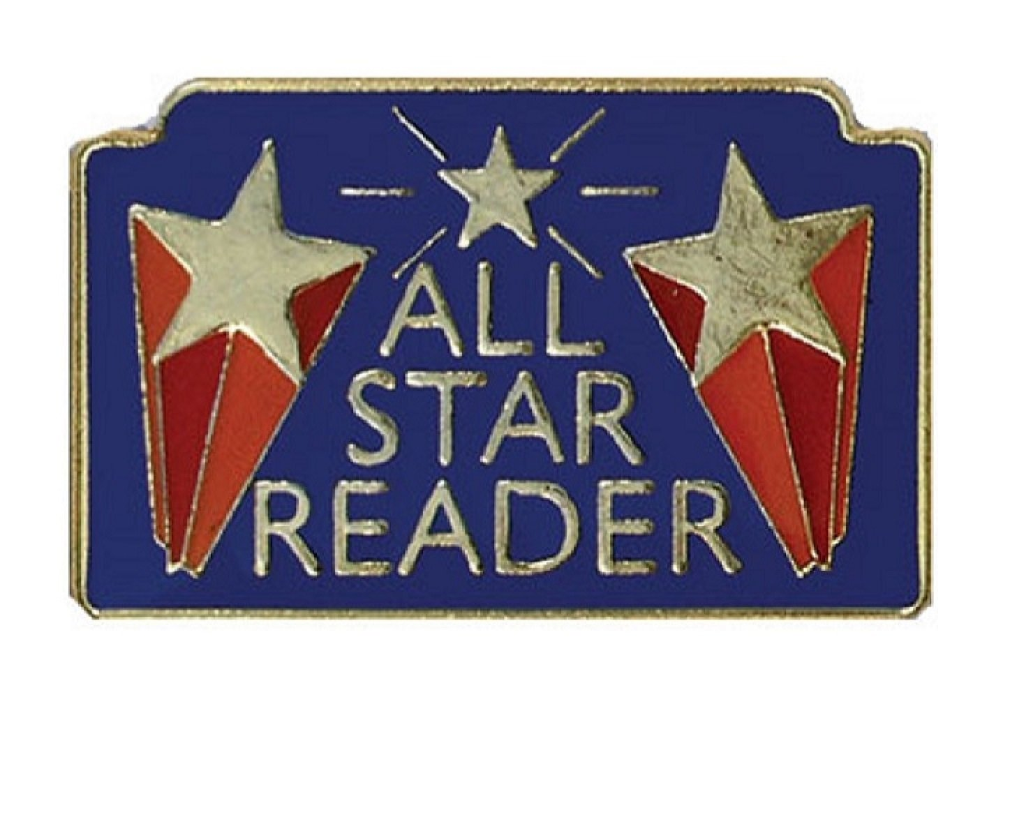Pack of 100 All Star Reader Lapel Pins