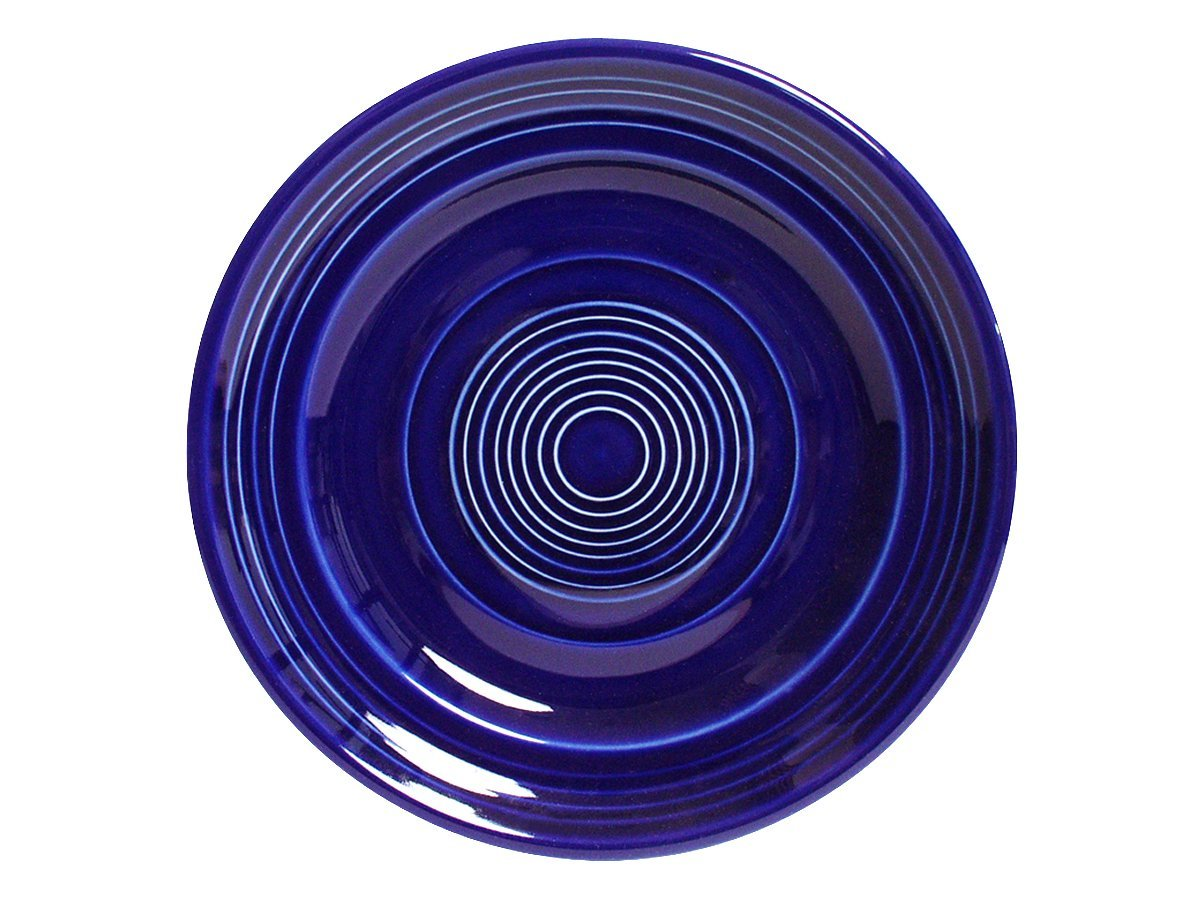 Tuxton Home Concentrix Dinner Plate (Set of 4), 10 1/2'', Cobalt Blue; Heavy Duty; Chip Resistant; Lead and Cadmium Free; Freezer to Oven Safe up to 500F by Tuxton Home (Image #2)