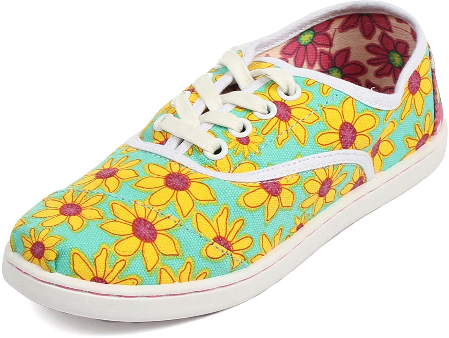 Amazon.com: Toms - Unisex-Child Cordones Shoes In Yellow Daisy, Size: 1 M US Little Kid, Color: Yellow Daisy: Shoes