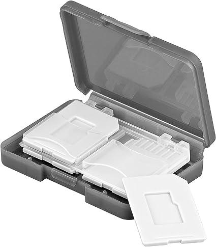 Caja para tarjetas de memoria Tarjeta SD de 4 x 2 unidades: Amazon ...
