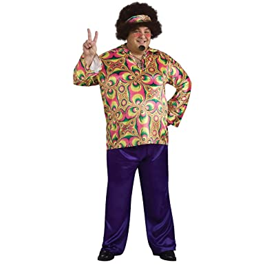 Rubies Mens Plus Size Purple Daze Costume, As Shown, ...