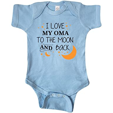 amazon com inktastic love my oma to the moon and back infant
