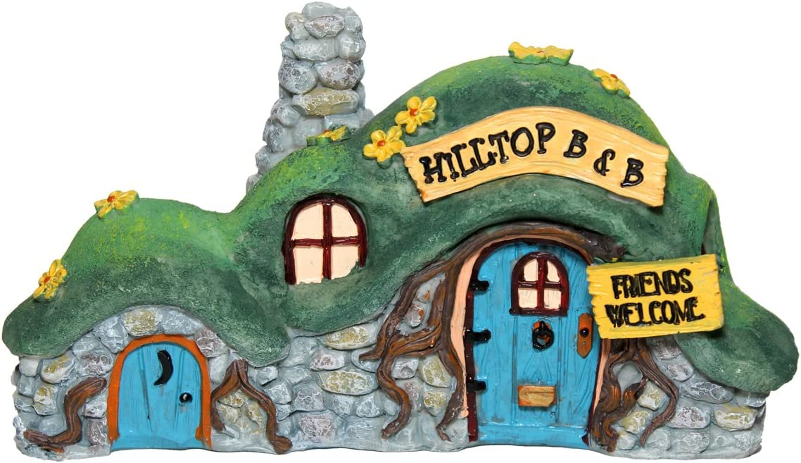 Gift Craft Miniature Fairy Garden Bed & Breakfast Figurine