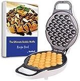 Hong Kong Egg Waffle Maker with BONUS recipe e-book - Make Hong Kong Style Bubble Egg Waffle in 5 minutes