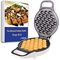 Hong Kong Egg Waffle Maker by StarBlue - White - Make Hong Kong Style Bubble Egg Waffle in 5 minutes