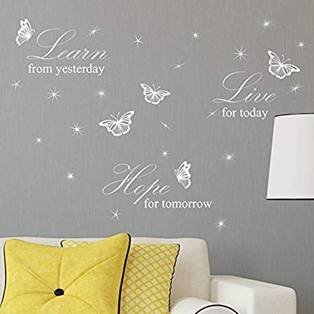 walplus self Adhesive Wall Stickers Living Room for Boys and Girls Children Wall Decal Home d/écor Vinyl Kitchen Quote Art Mural House Quote The Best Things in Life