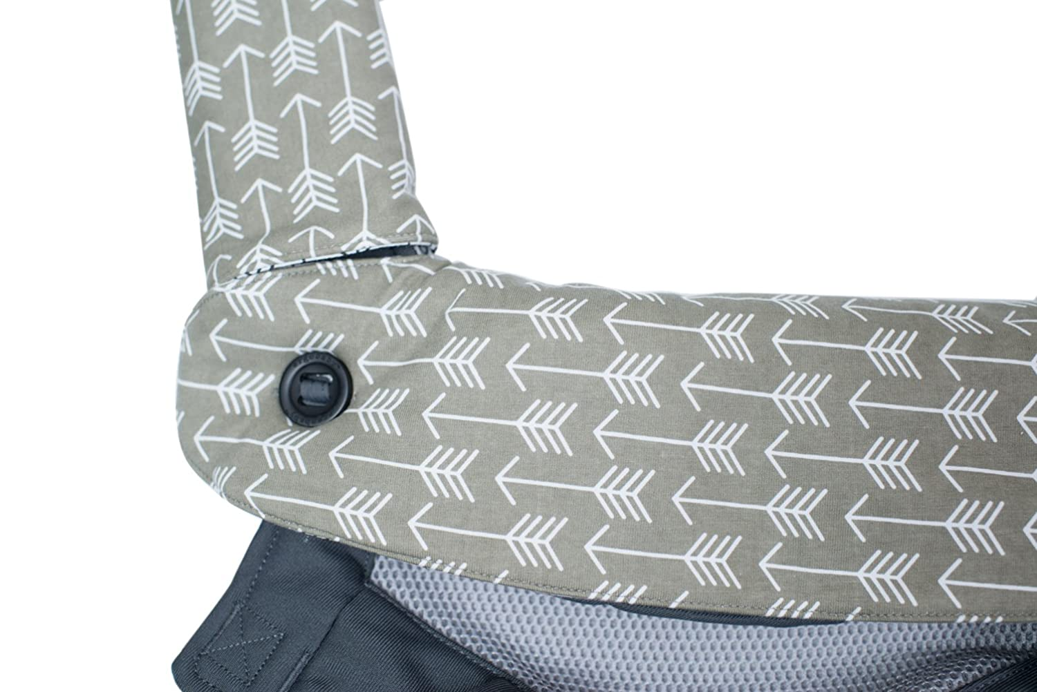 Great Baby Shower Gift by Mila Millie Premium Drool and Teething Reversible Cotton Pad Gray Arrow Arrow Design Fits Ergobaby Four Position 360 and Most Baby Carrier Hypoallergenic
