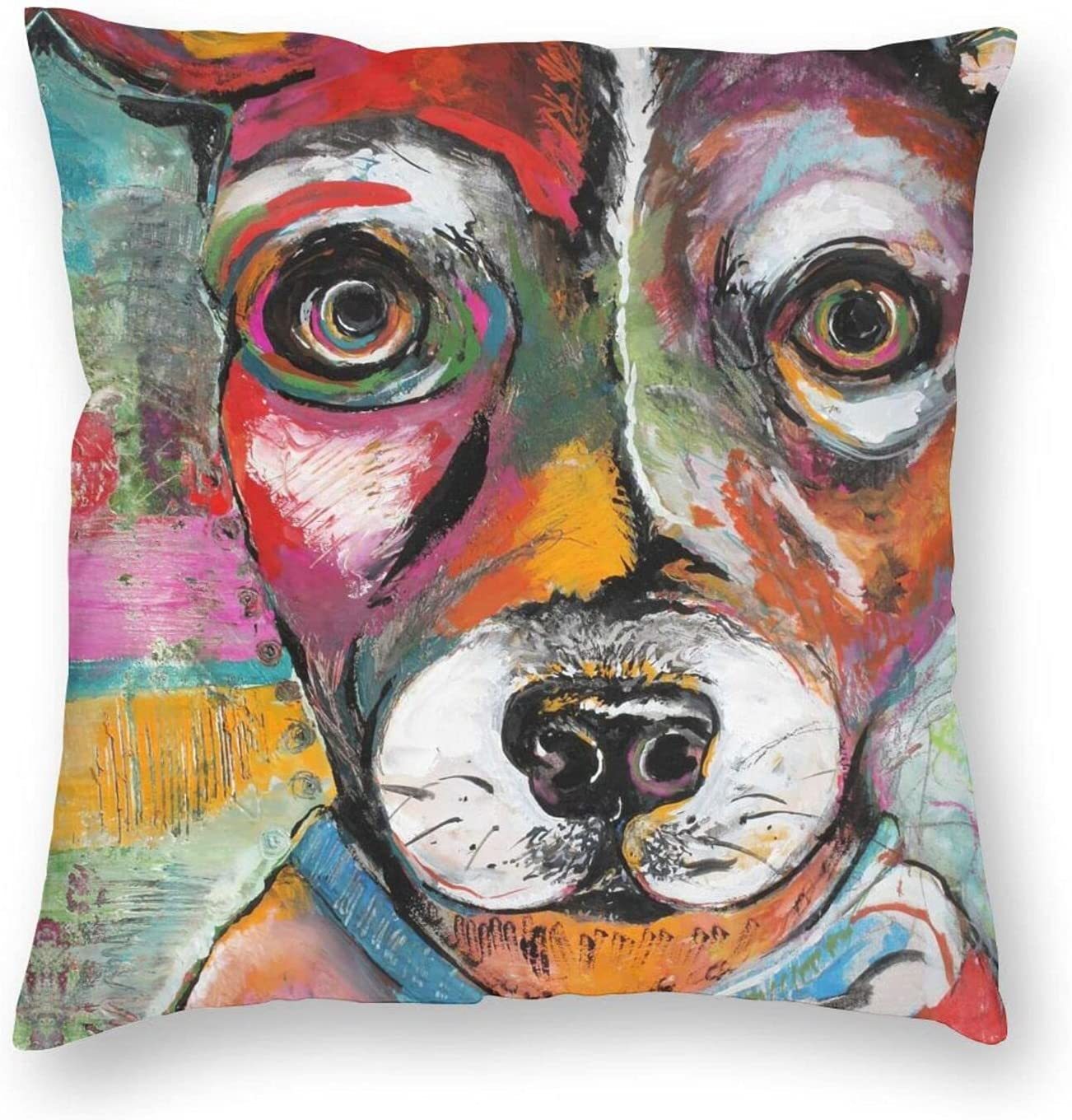 WEADSFCD Painting Rat Terrier Pillow Covers 16