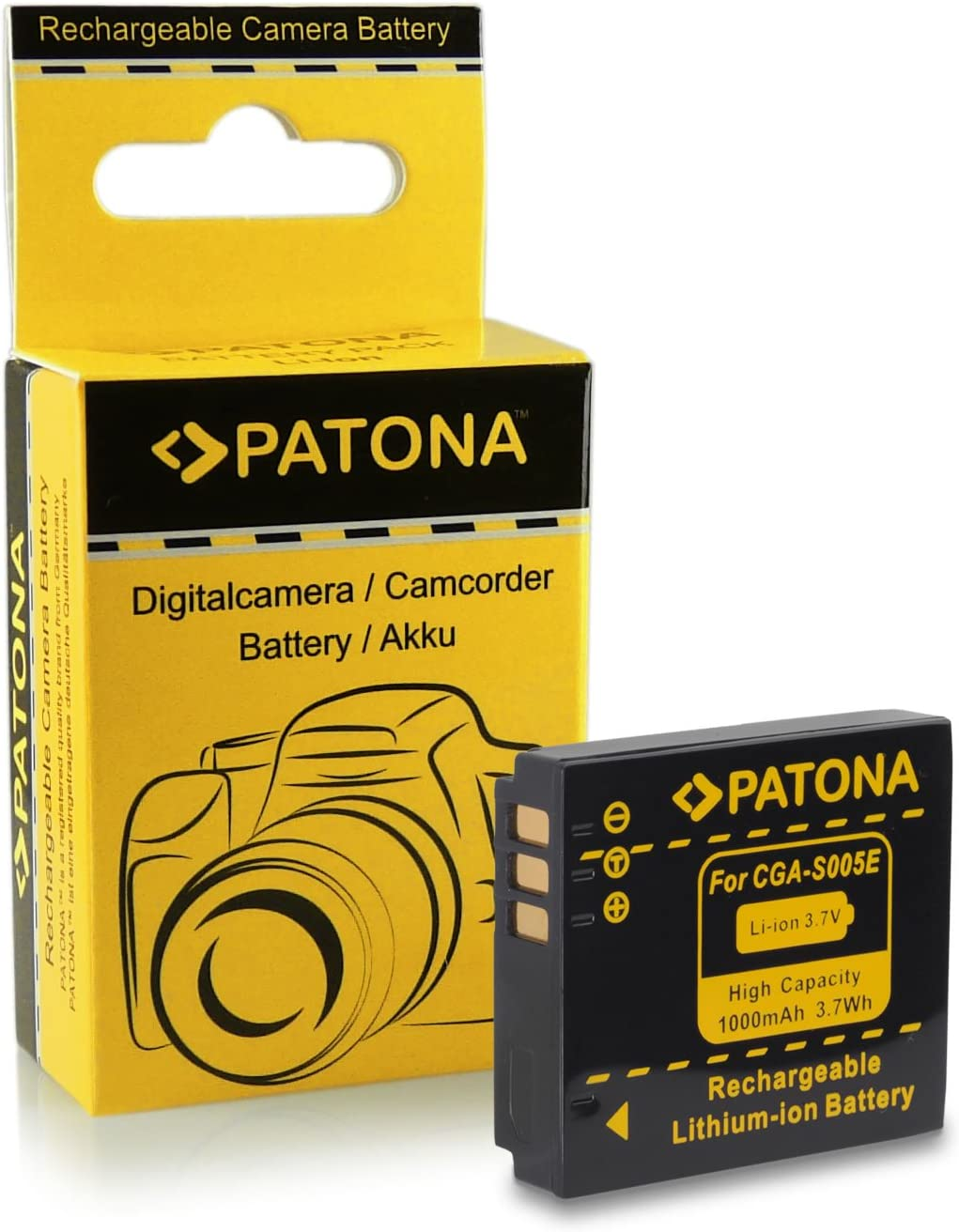 Mobiles Battery premium quality Panasonic CGA-S005 Fuji NP-70 with Infochip 100 compatible with Panasonic Lumix DMC-FX01 FX3 FX07 FX8 FX9 FX10 FX12 FX50 FX100 FX150 LX1 LX2 LX3 Fuji FinePix F20 F40 F40fd F47