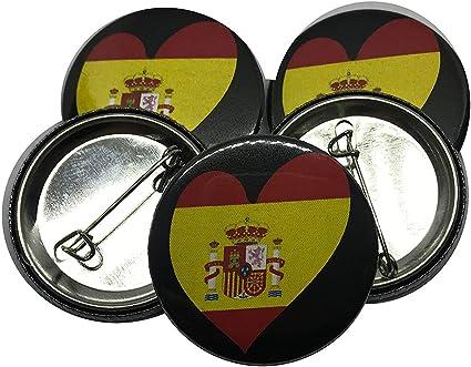 Custom Vinyl Chapa España corazón constitucional (5): Amazon.es ...