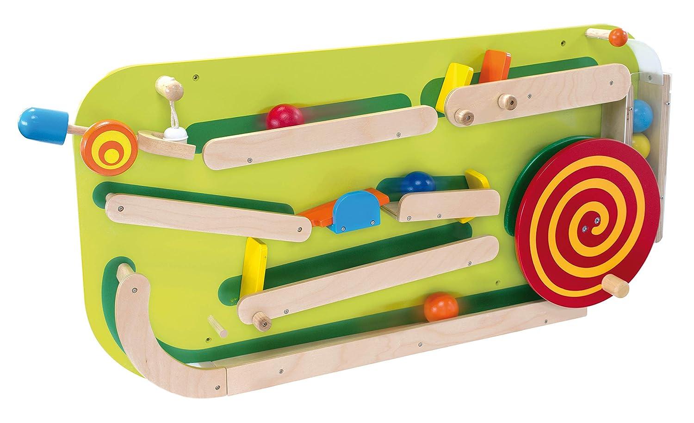 Bartl I'm Toy 111872 Wandspiel Rollbahn Motorikspiel für Kinderzimmer, Wartezimmer, Kinderkrippe