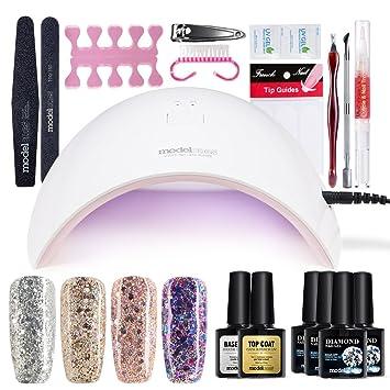 Amazon modelones gel nail kit uv led glitter gel nail polish modelones gel nail kit uv led glitter gel nail polish with nail dryer manicure set solutioingenieria Images