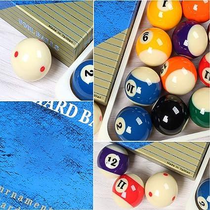 WXS Billar Unisex Adulto 57.2/2-1/4 Juego Bolas De Billar (Manchas Y Rayas): Amazon.es: Deportes y aire libre