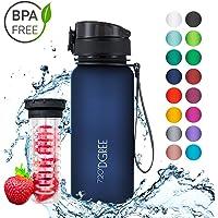 """720°DGREE Trinkflasche Kinder & Sport """"uberBottle"""" - 650ml - Wasserflasche Auslaufsicher - Sportflasche, Schule - BPA-Frei - Mit Fruchteinsatz"""
