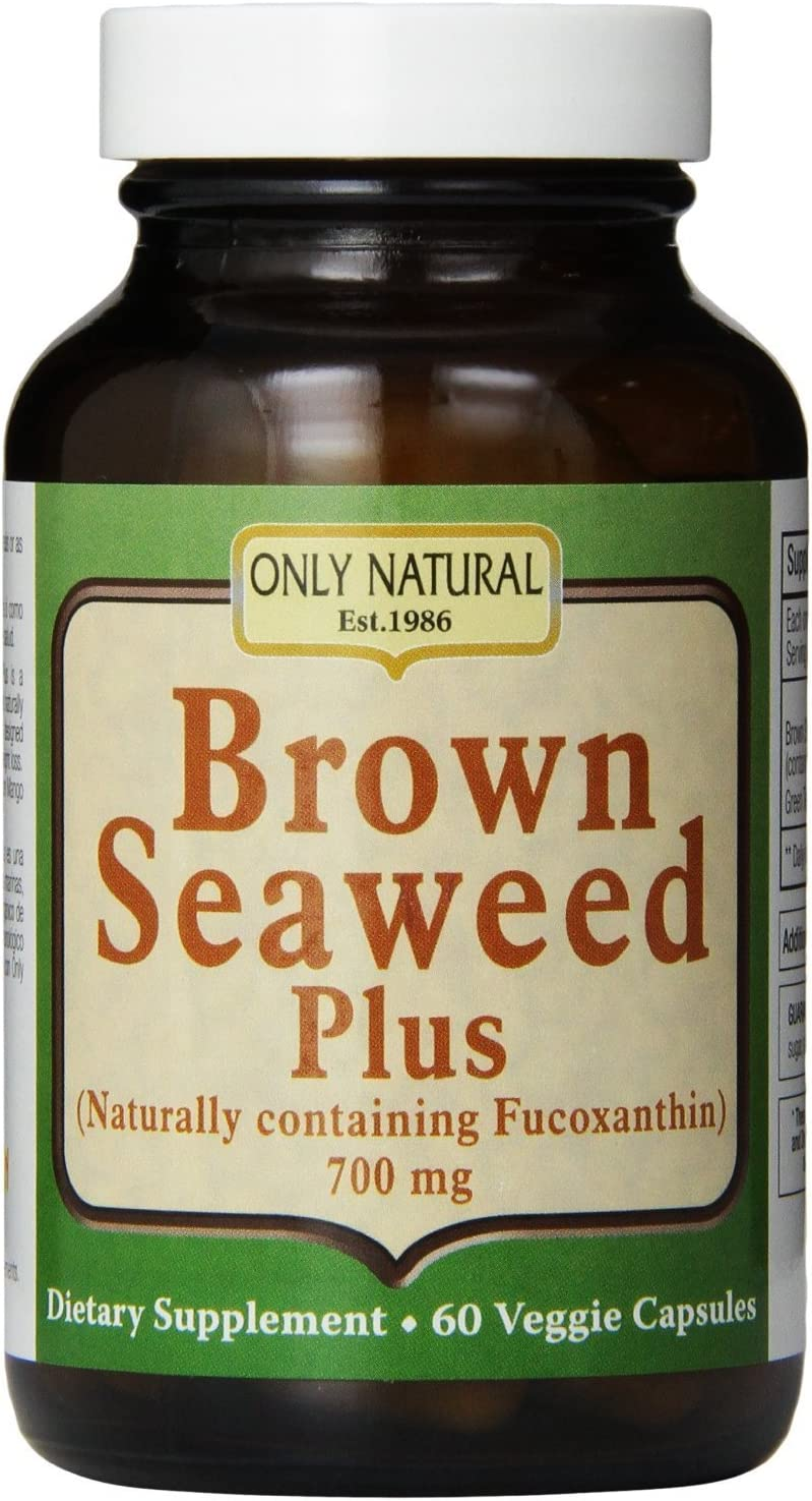 Only Natural Nutritional Veggie Capsules, Brown Seaweed Plus, 700 mg, 60 Count Pack of 2