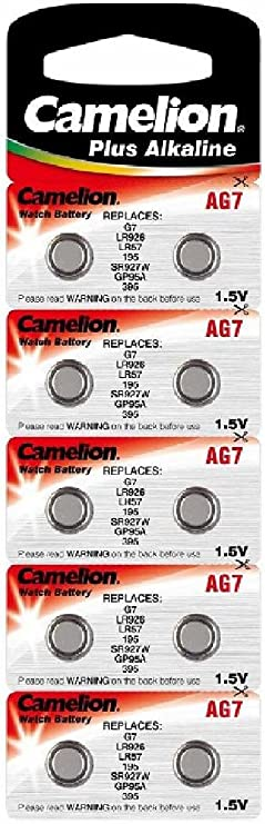 Alkaline Knopfzelle Camelion Ag7 Lr57 Lr926 395 Bürobedarf Schreibwaren