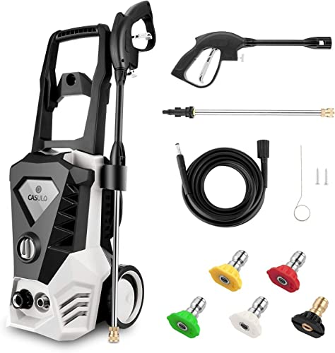 Wesoky Electric Pressure Washer Max 3500PSI 2.6GPM, 1800W Power Washer Machine, High Pressure Car Patio Garden Yard Cleaner with 5 Adjustable Nozzle, Spray Gun 10m Hose
