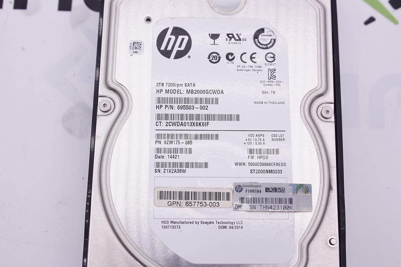 HP 695503-002 HP 2TB 6G SATA 7200 RPM LFF 3.5 SC MDL G8 HDD 695503-002