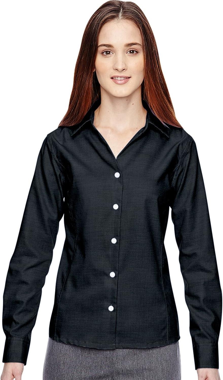North End Sport Blue Women's Wrinkle-Free Shirt Black