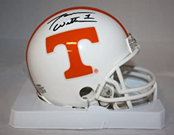 1052f544c40 Tennessee Volunteers NCAA Smokey Gray Helmet Shadowbox w/ Joshua Dobbs card  Riddell Mini Helmets