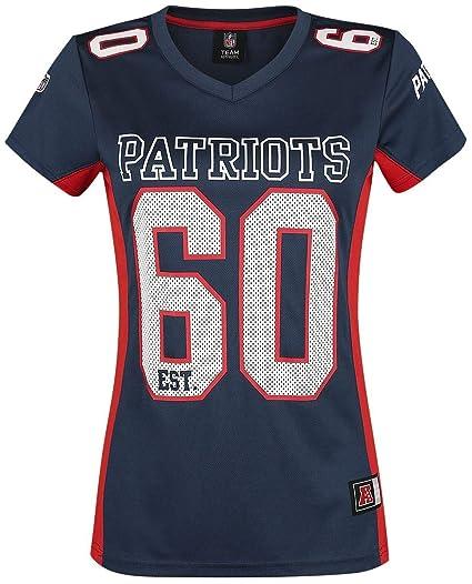 NFL New England Patriots Camiseta Mujer Azul Marino XL  Amazon.es  Ropa y  accesorios e86a6e1caf2