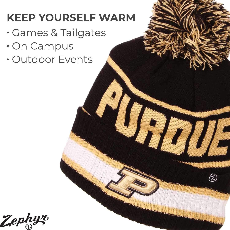 Zephyr Adult NCAA Ultra Soft Fleece Lined Knit Beanie