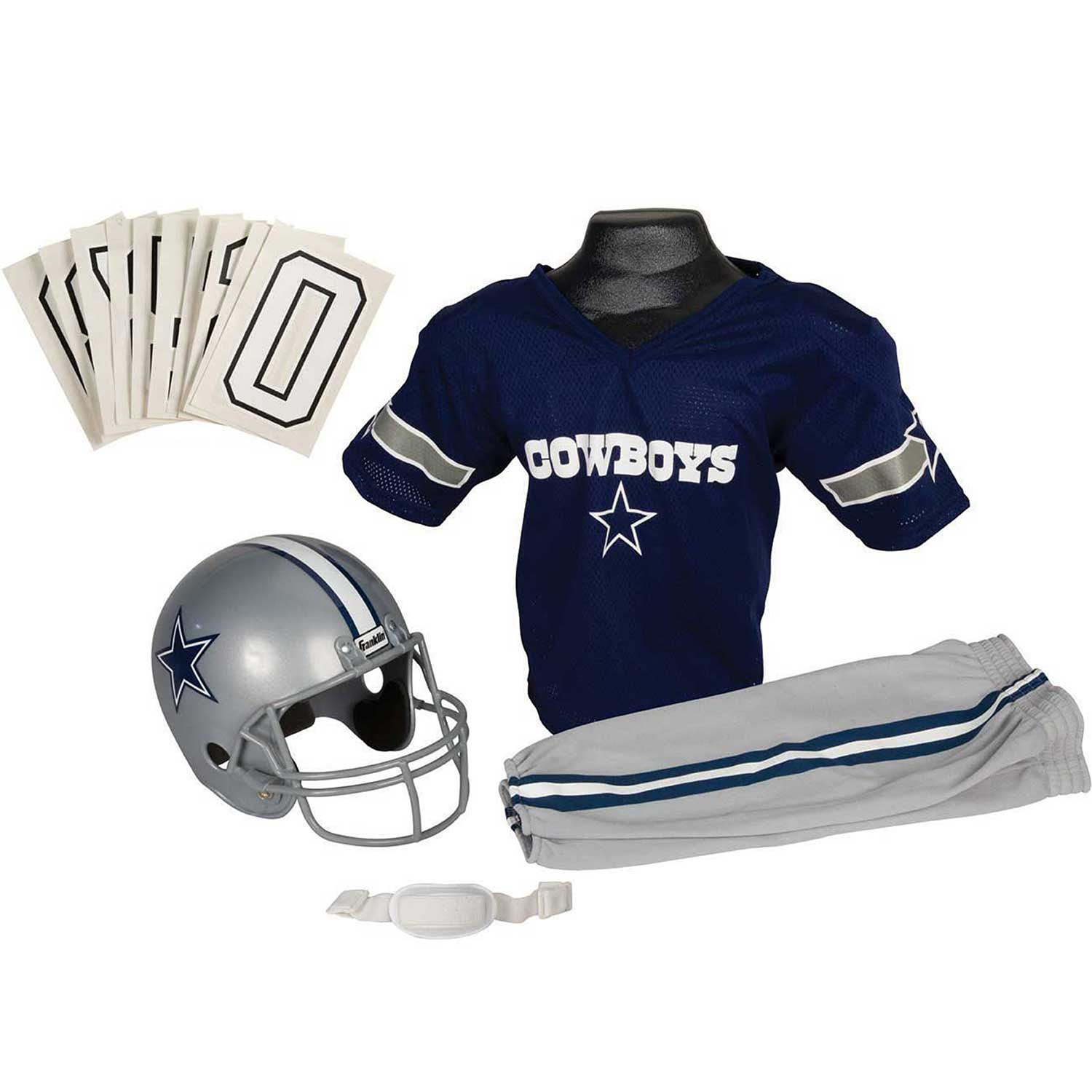 99204168f Galleon - Franklin Sports NFL Dallas Cowboys Youth Licensed Deluxe Uniform  Set