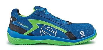 Sparco 0751640AZVF Zapatillas, Azul/Verde, 40