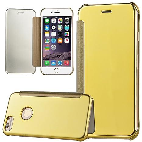 xifanzi para iPhone 7 Flip funda Espejo Mirror superficie ...
