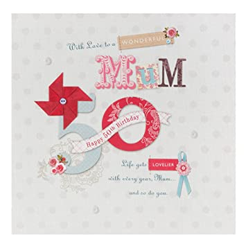 Hallmark 50th Birthday Card For Mum Pamper Yourself Large Square