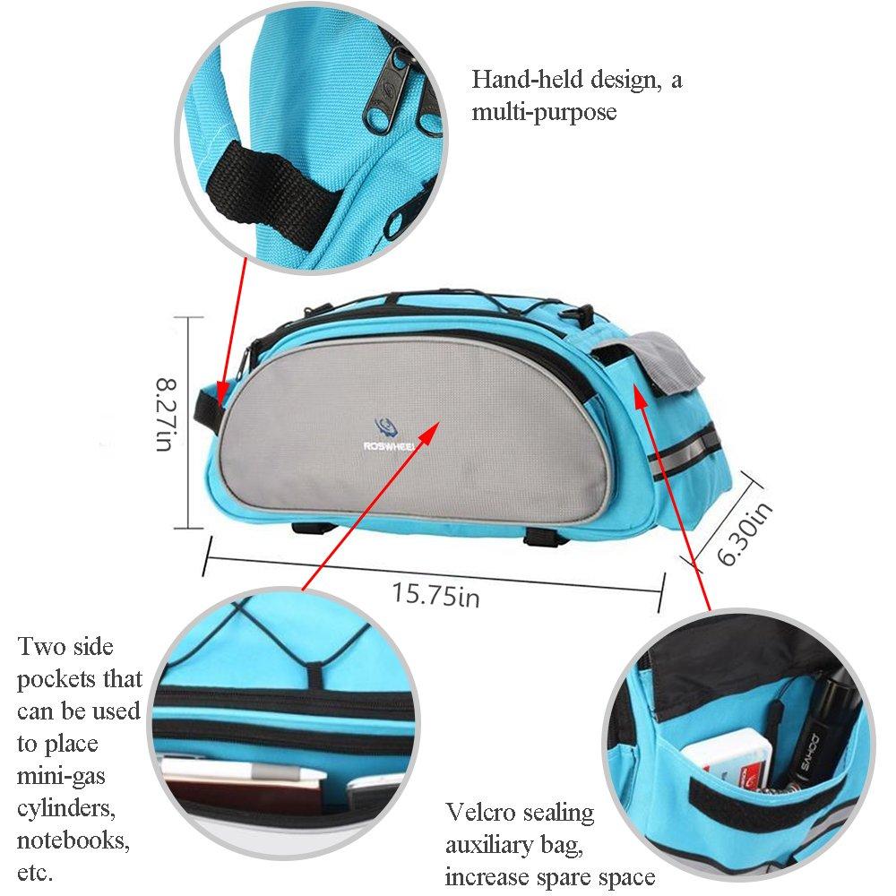 Blue Meanhoo Bicycle Handlebar Rear Seat Trunk Bag Handbag Pannier Bicycle Pack Accessories Outdoor Activity