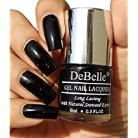 DeBelle Gel Nail Polish Luxe Noir 8ml- (Black Nail Polish)