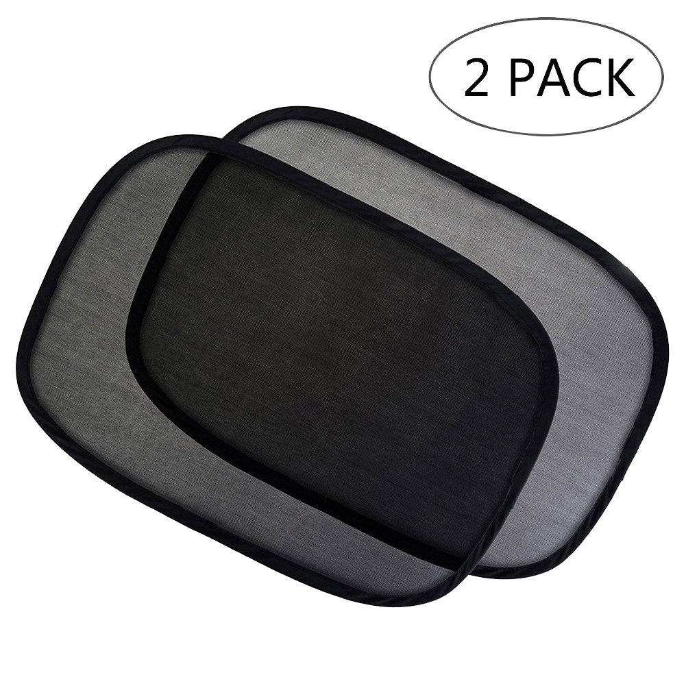 Aiooy Car Sun Shade Universal Baby Car Window Sunshades for Side and Rear Window, Block Harmful UV Rays Sun Glare Heat, Best for Baby Protection(2 Pack)