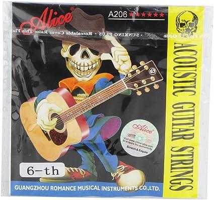 Alice cuerdas para guitarra acústica, acero inoxidable, Super luz ...