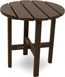 "product image for POLYWOOD RST18MA Round 18"" Side Table, Mahogany"
