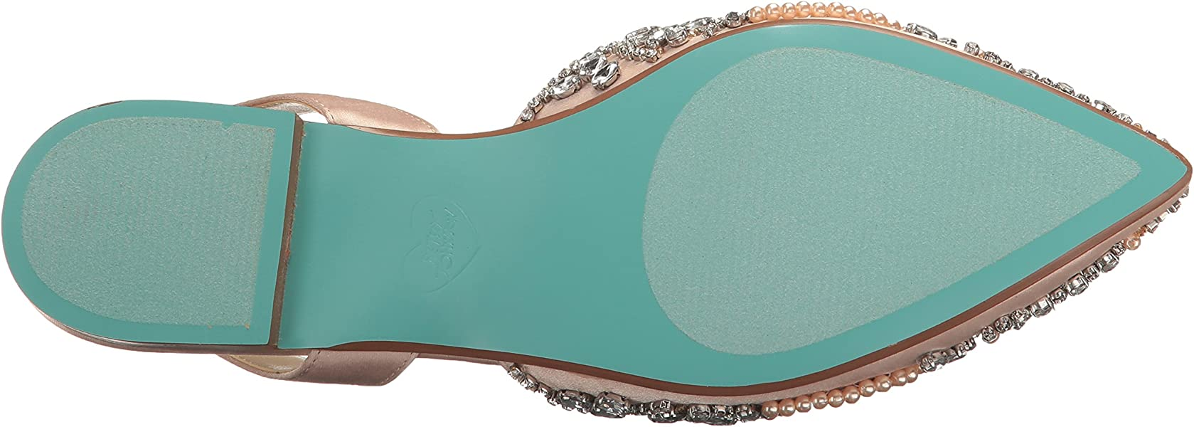 eecdd0f1b78 Blue by Betsey Johnson Women s Molly Champagne Satin 5 M US. Back.  Double-tap to zoom