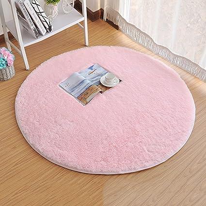 Amazon.com: Princess Dream Round Shaggy Area Rugs and Carpet Super ...
