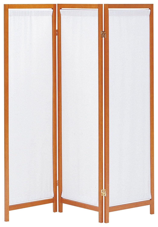 完成品 暗くならない帆布タイプ 3連パーテーション モダン衝立 高さ1500mm ブラウン B014SN70DO