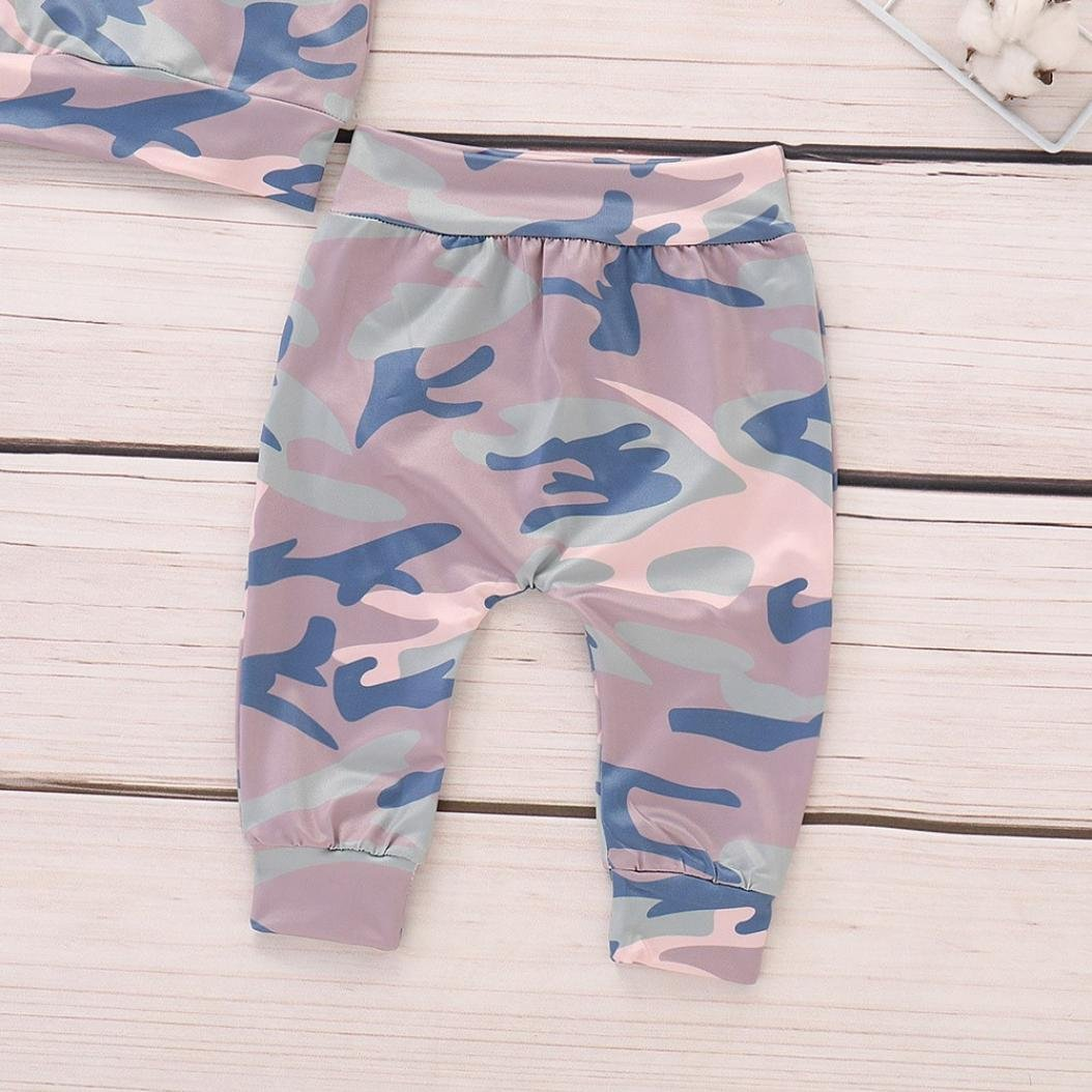 Toddler Infant Baby Boy Girl Autumn Winter Outfits Clothes Camouflage Hoodie Long Sleeve Tops+Pants 2Pcs Set 0-2T