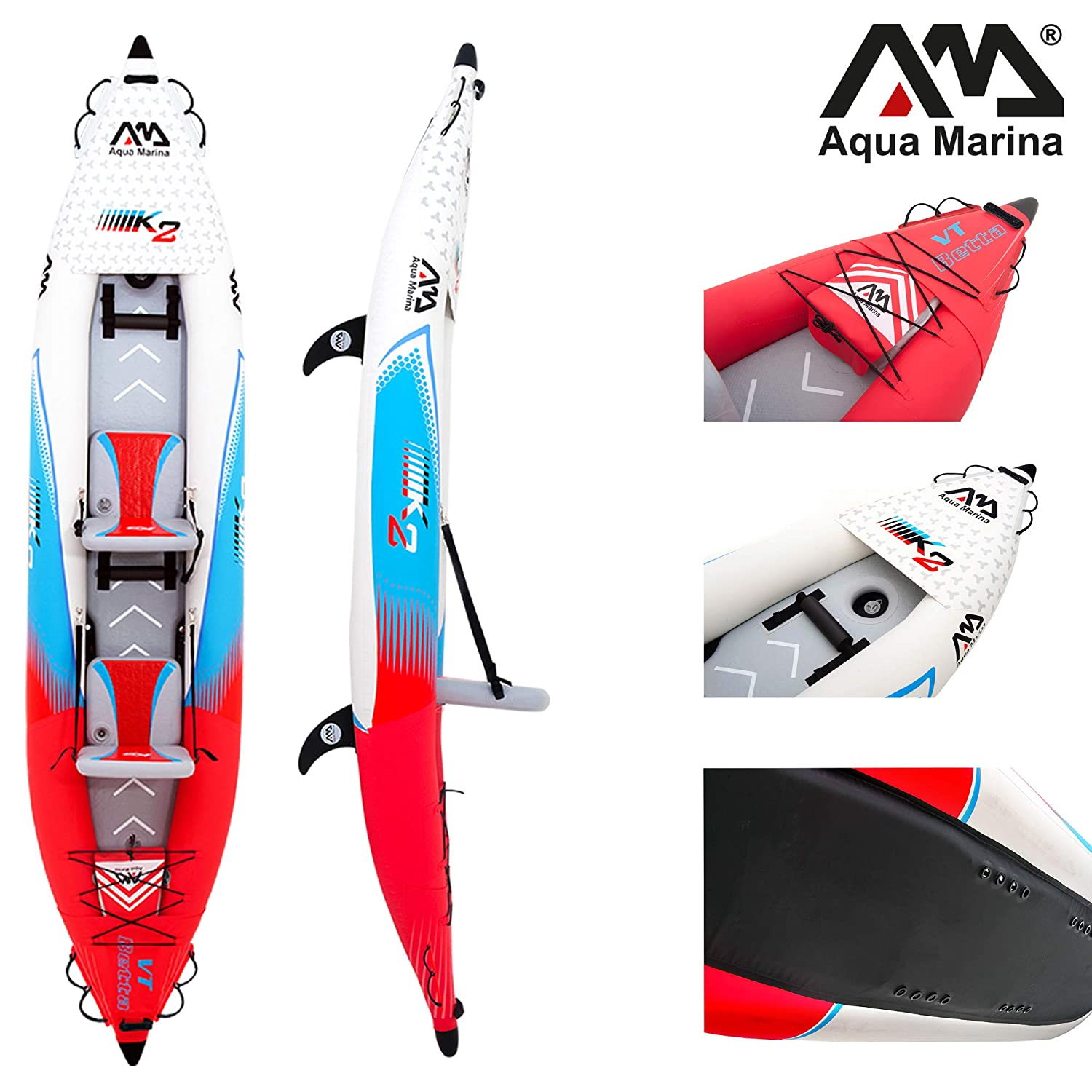 Amazon.com : Aqua Marina 2 Person Inflatable Professional Kayak - Betta : Sports & Outdoors