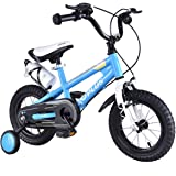 """Goplus BMX Freestyle Kids Bike Boy's and Girl's Bicycle with Training Wheels Perfect Gift for Kids, 16"""""""