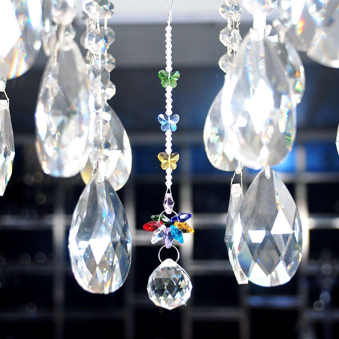 HD Handmade 30mm Crystal Ball Chandelier Prisms Butterfly ...