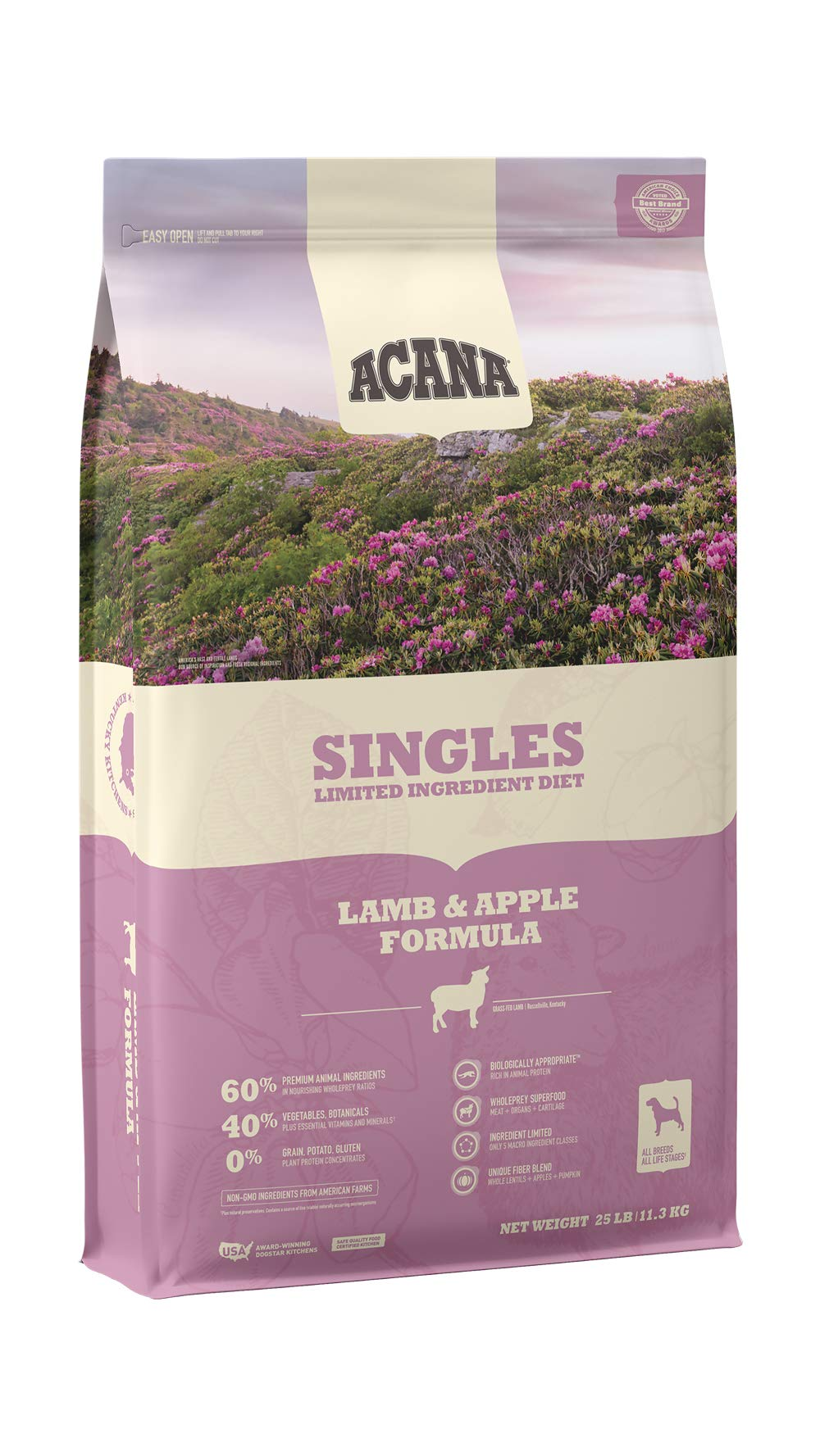 ACANA Singles Limited Ingredient Dry Dog Food, Lamb & Apple, Biologically Appropriate & Grain Free by ACANA