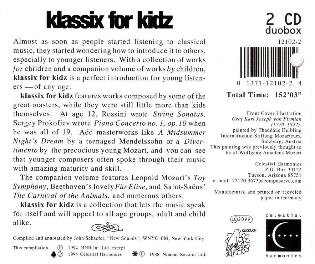 Klassix For Kidz / Various by Kuckuck Schallplatten