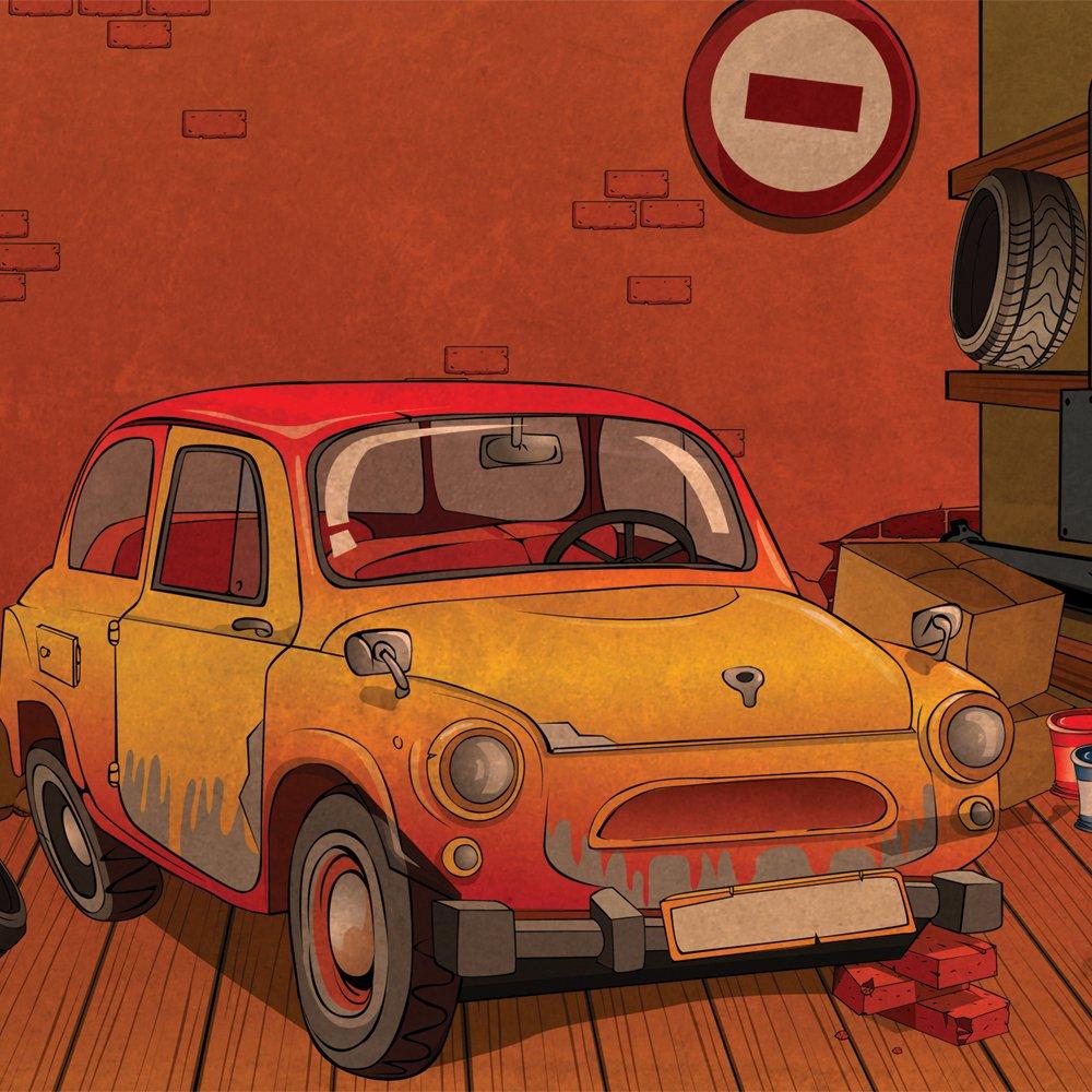 JP London 2 Thick Heavyweight Gallery Wrap Wall Canvas Art Cartoon VW Punch Buggy Mystery Machine 26 Inch SQCNV2215