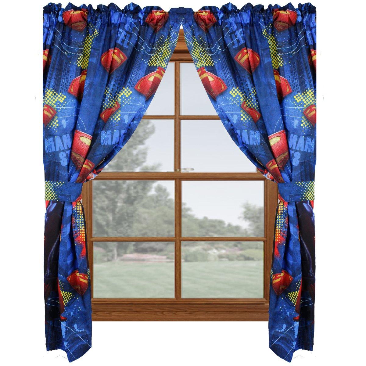 Amazing Superman Man Of Steel Window Panels Curtains Drapes, Set Of 2: Amazon.ca:  Home U0026 Kitchen