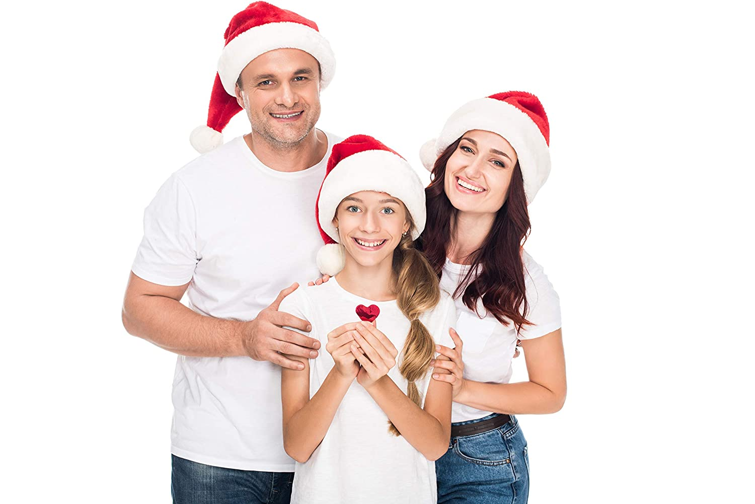 24 Santa Hats Adult Sized in Bulk for Holiday Office Parties and Festive Christmas Photos Bottles N Bags