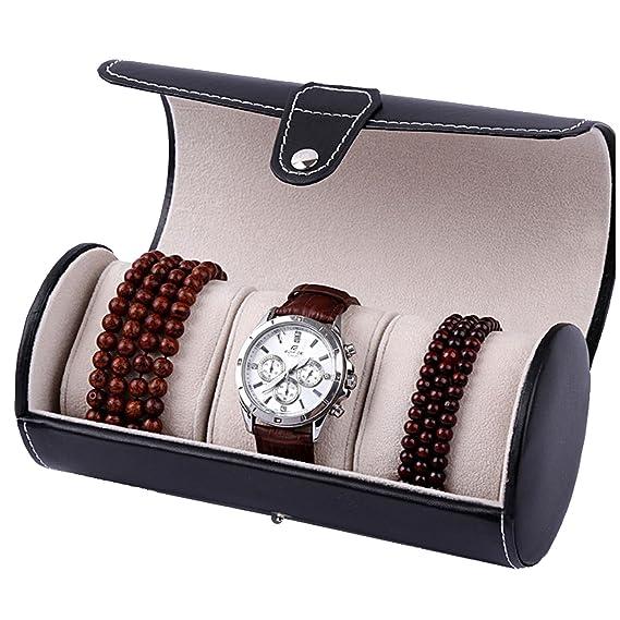 Reloj, funda de viaje de Nueva caja de joyas de regalo de almacenamiento de rollo