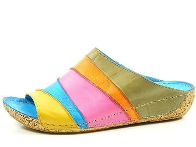 Gemini 032084-02 Schuhe Damen Sandalen Pantoletten Clogs, Schuhgröße:40;Farbe:Mehrfarbig