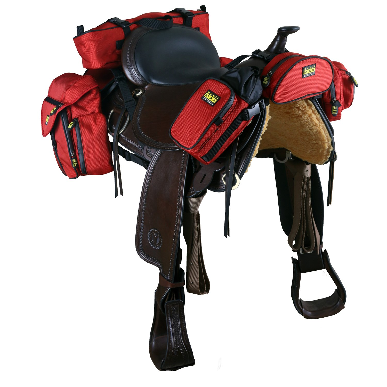TrailMax 500コンプリートセット - Western Saddles用パックシステム - レッド   B073FCSVWM